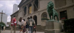 Ferris, Sloane,and Cameron approach the AIC