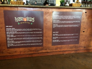 My problem at Philz--deciding what to try.