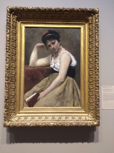 Jean-Baptiste-Camille Corot, Interrupted Reading, circe 1870