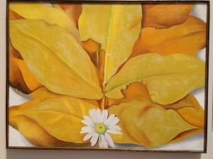 Yellow Hickory Leaves with Daisy, 1928