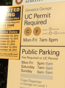You can park here if you get here before 8:30 (yes, a.m.).