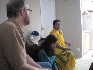Mukul on the left, Madhulika on the far right.