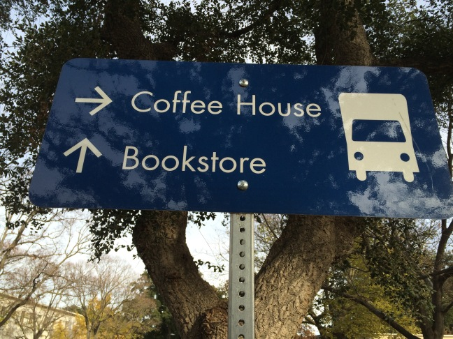 coffee house blue sign