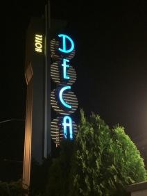 Hotel Deca sign