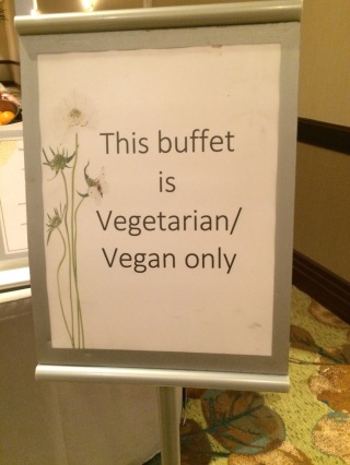 vegan buffet sign