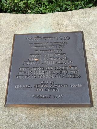 Fletcher Benton plaque