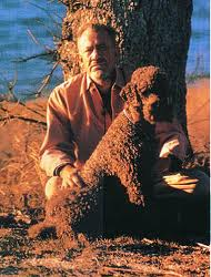 John Steinbeck with Charley