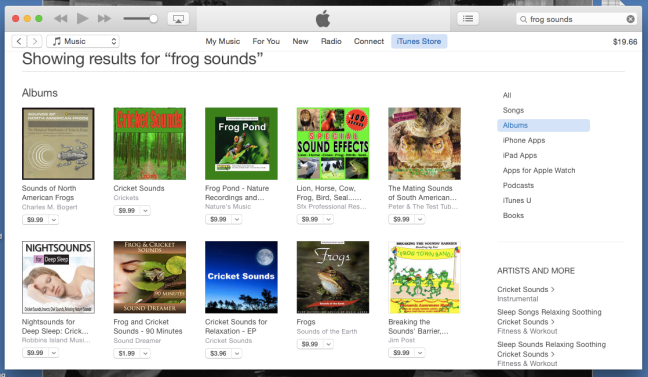 frog sounds search