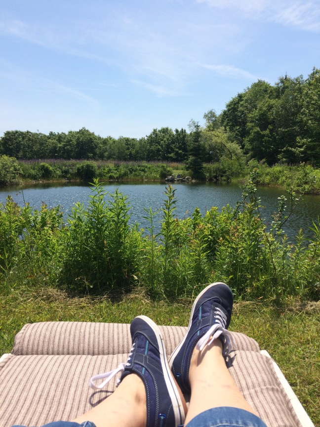my feet at the pond
