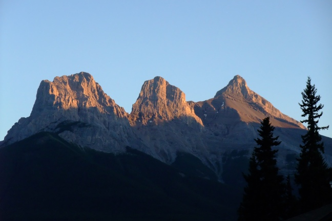 The Three Sisters in der Abendsonne