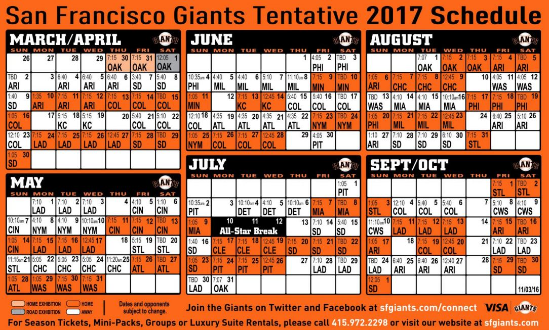 It's just an image of Massif Sf Giants Schedule Printable