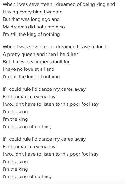 King lyrics