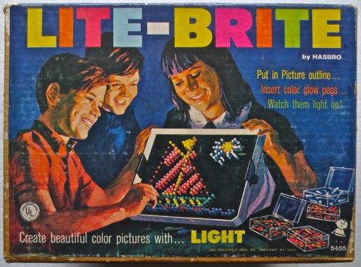 1967 LITE BRITE Vintage 1960s Toy A