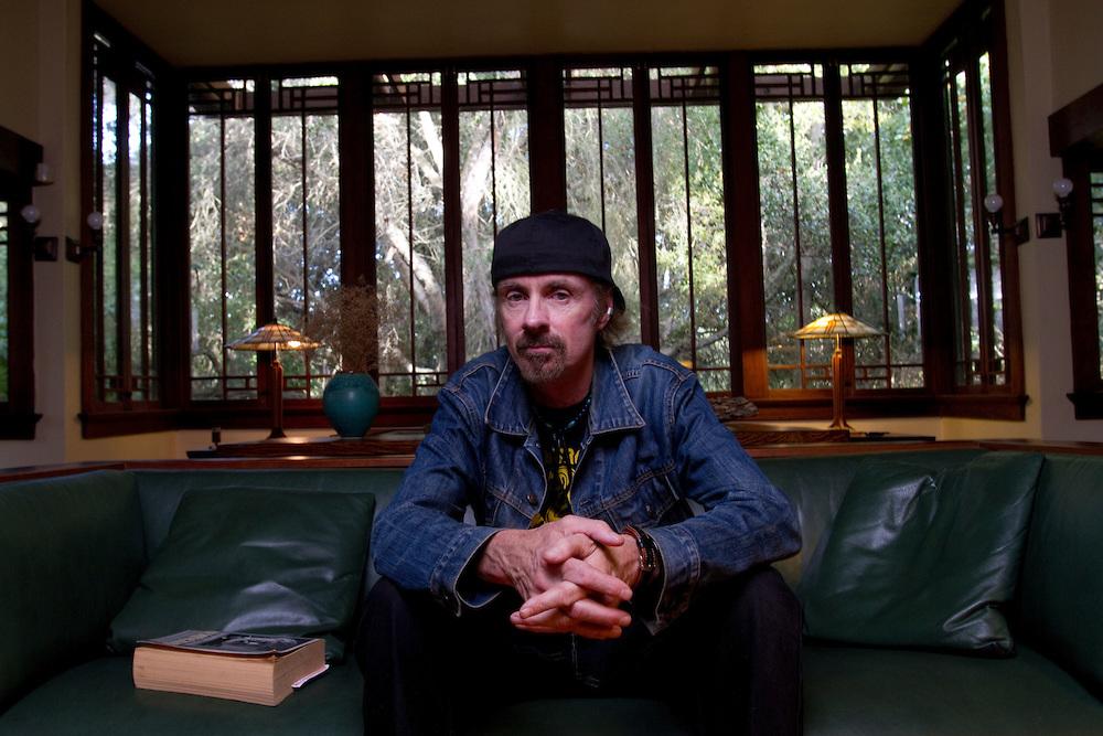 Author TC Boyle at his home in Montecito, CA.