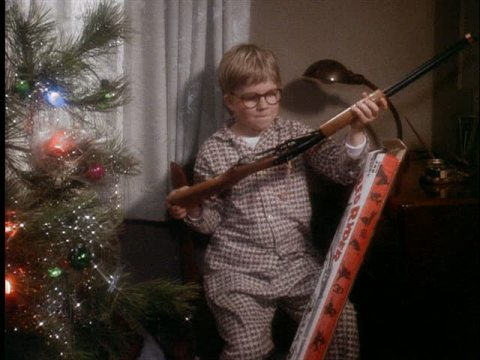 Ralphie and his gun