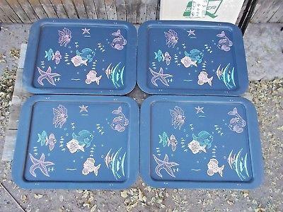 Vintage-Folding-TV-Tray-Tables-Set-of-4