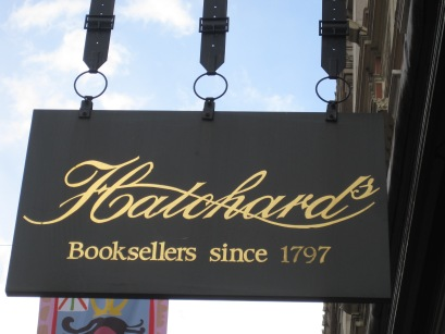 Hatchards sign