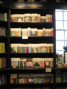 Hatchards Wodehouse wall