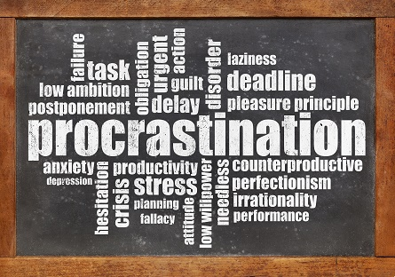 procrastination word cloud